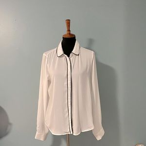 F21 Button Down Blouse Large